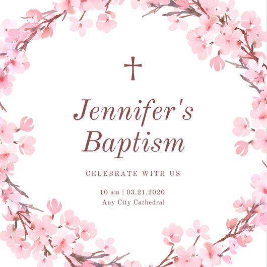 Christening Invitation Editor Online