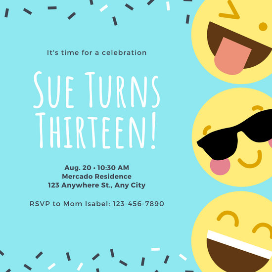 Invitation Card Format Birthday Party