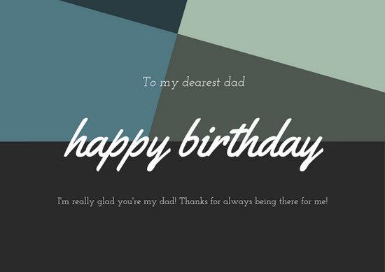Blue Black And Green Geometric Shapes Modern Dad Birthday