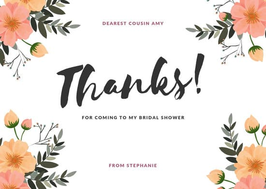 Customize 67 Bridal Shower Thank You Card Templates Online Canva