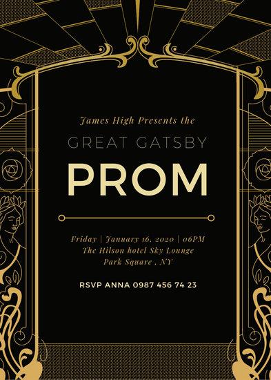 Customize 65 Great Gatsby Invitation Templates Online Canva