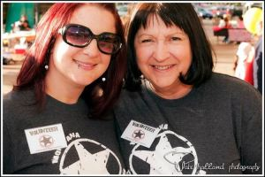 Megan and Linda Baumann at Rock Against Rasicm