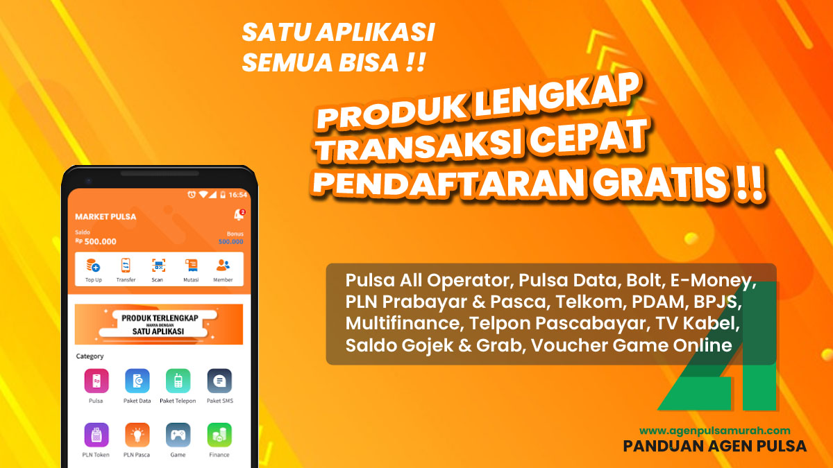 Market Pulsa, Solusi Agen Pulsa Murah All Operator 2021