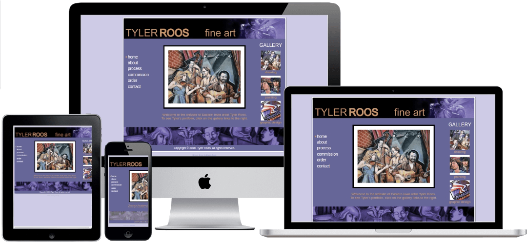 screenshot of TylerRoosArt.com