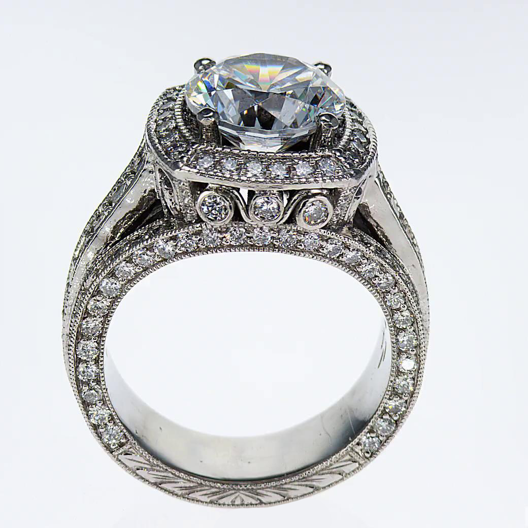 nouveau art engagement diamond rings product circa ring