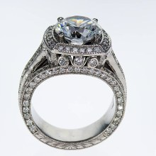 Art Deco Diamond Vintage style Engagement Ring