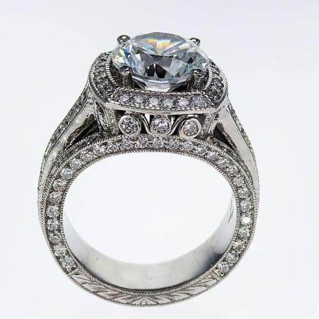 Art Deco Diamond Vintage style Engagement Ring
