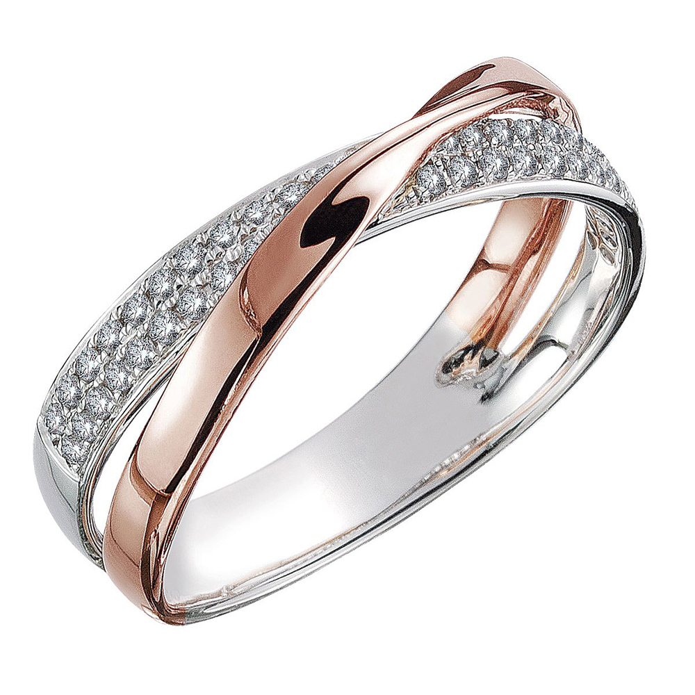 18k Rose Gold Brown Diamond Band Ring 0 92ct