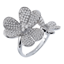 Dino Lonzano Butterfly Diamond Ring