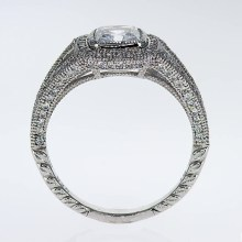 Unique Halo Engagement Ring