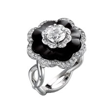 Art Deco inspired black onyx fashion ring