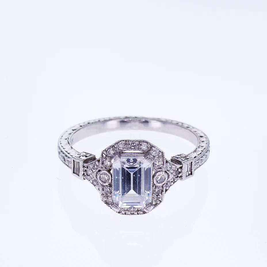 Art Deco Emerald Cut Diamond Engagement Ring: Art Deco Jewelry Wedding Rings At Websimilar.org