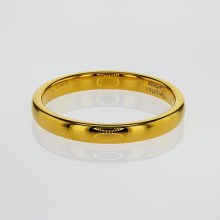 Gold Plated Tungsten Wedding Band