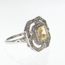 Vermeil Ring with Gemstones, Vintage Inspired