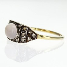 Art Deco Fashion Ring with Natural Gemstones, Vermeil