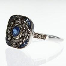 Colored-stones Vermeil Ring, Vintage Design