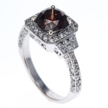Vintage Inspired Fancy Color Diamond Ring