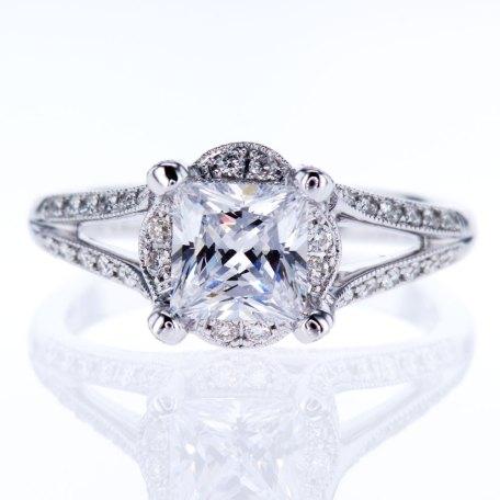 Vann K Split Shank Engagement Ring
