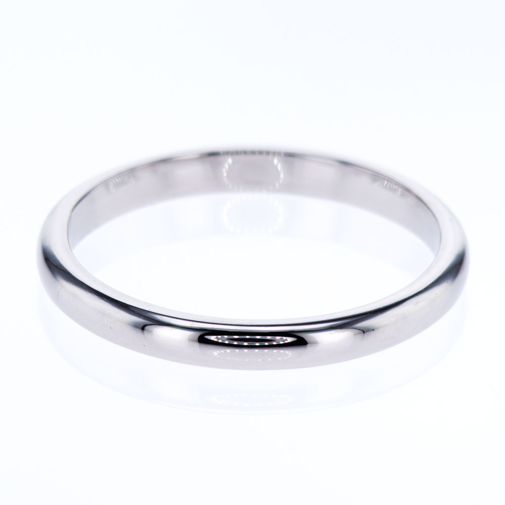 Cartier Vintage Platinum Classic Wedding Band Market Street Diamonds