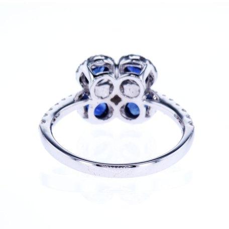 Blue Sapphire Diamonds Cocktail Ring