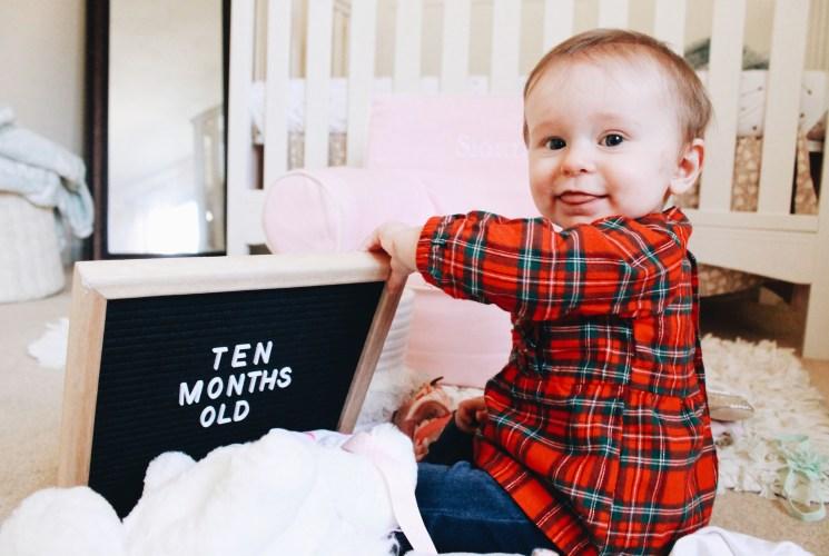 Baby Update: Sloane at Ten Months Old   marketstreetpetite.com blog