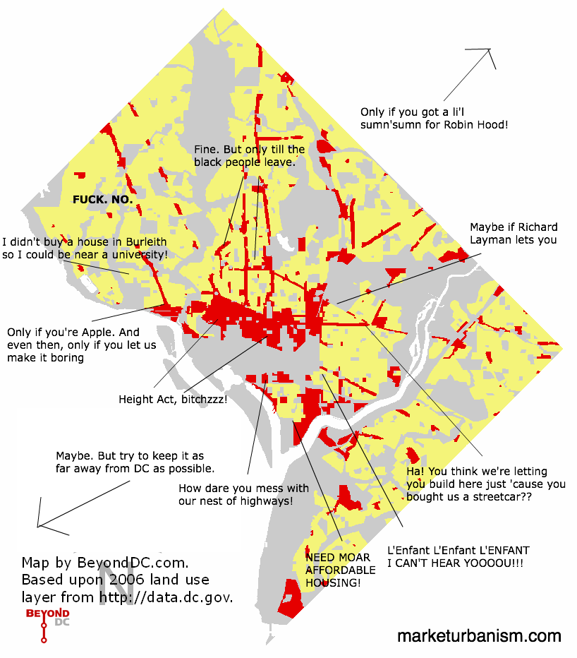 Annotated simplified DC land use map