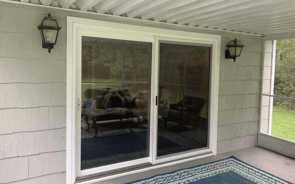 okna elegante sliding door installation