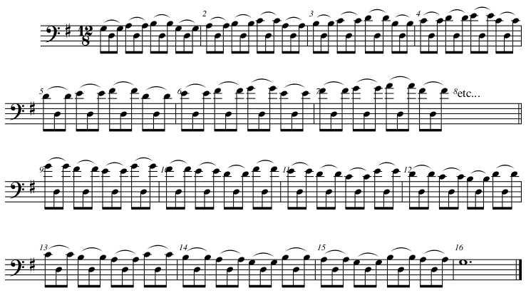 string crossing exercise mark foley 39 s double bass blog. Black Bedroom Furniture Sets. Home Design Ideas