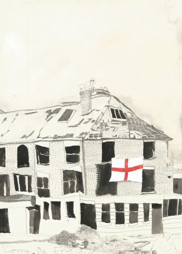 Come On England drawing