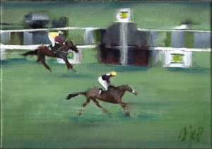 Red Rum Horse painting