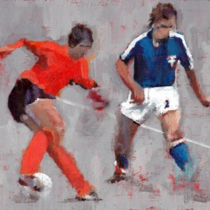 The Cruyff Turn - An acrylic painting by Mark Gisbourne