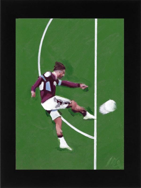 Jack Grealish volley Aston Villa vs. Derby County framed