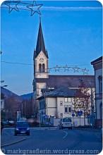 Werderstraße, Blick auf die katholische Kirche