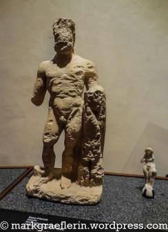 Herkules Statue, gefunden in Douarnenez - Gallo-Romanisch