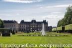 Das Schloss von Lunéville vom Schloss-Garten gesehen