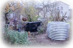 neues Hochbeet im Garten