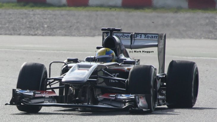 Esteban Gutierrez in Winter Testing 2013