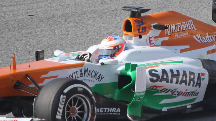 Paul Di Resta in Winter Testing 2013