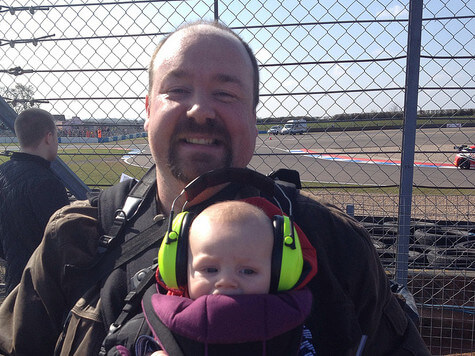 Xander's first motor racing event