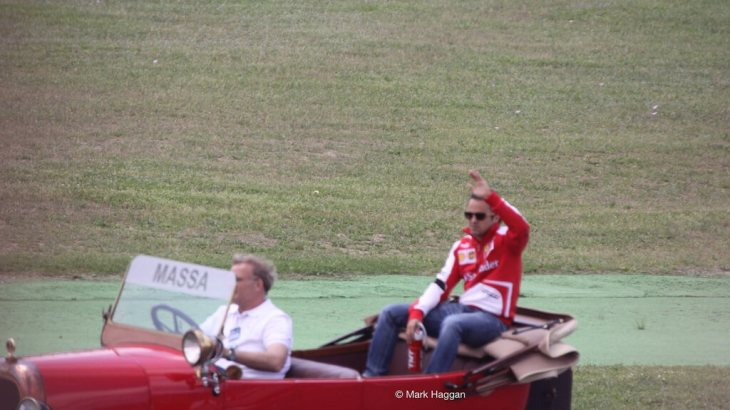Felipe Massa in the Drivers' Parade at the 2013 Spanish Grand Prix