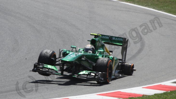 Giedo van der Garde's tyre problem at the 2013 Spanish Grand Prix