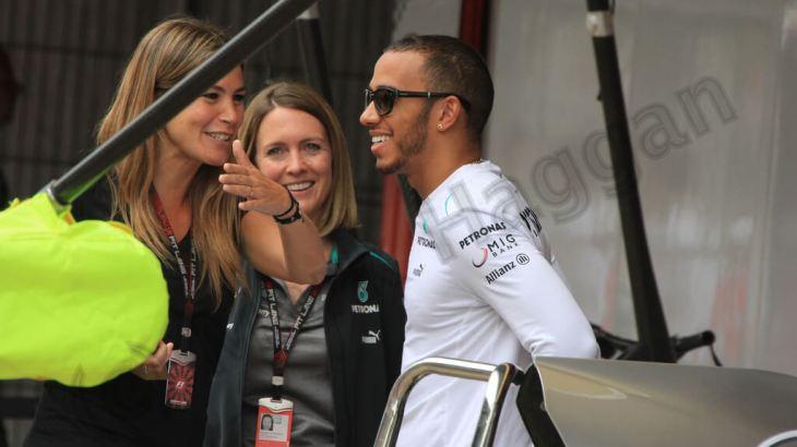 Lewis Hamilton before the 2013 Spanish Grand Prix