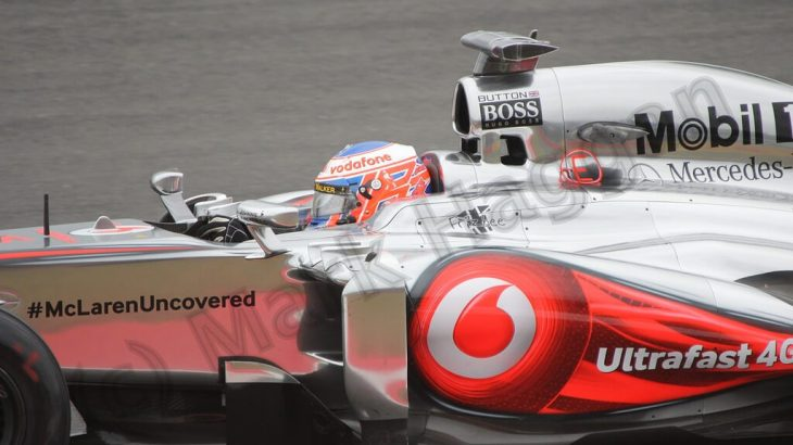 Jenson Button in Free Practice 2 for the 2013 British Grand Prix