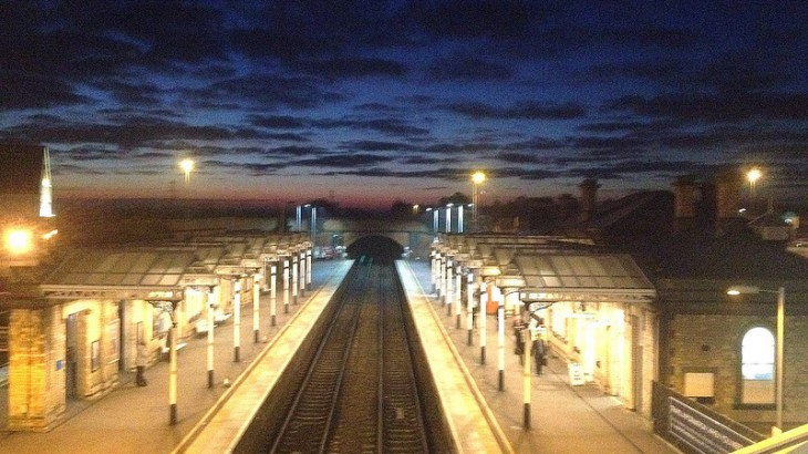 Sunrise at Loughborough Station