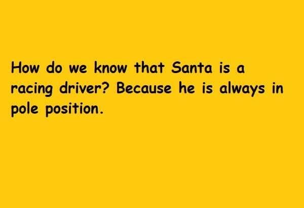 santa racing driver