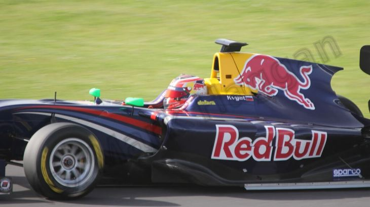 Daniil Kvyat in GP3 at the 2013 British Grand Prix