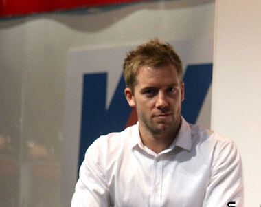 Sam Bird at the Autosport Show 2014