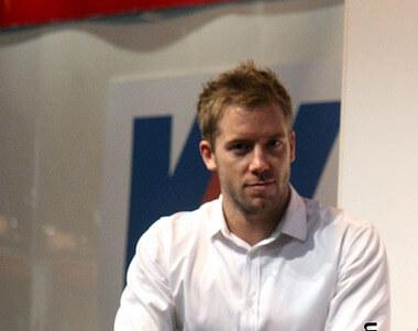 Sam Bird at the Autosport Show 2014