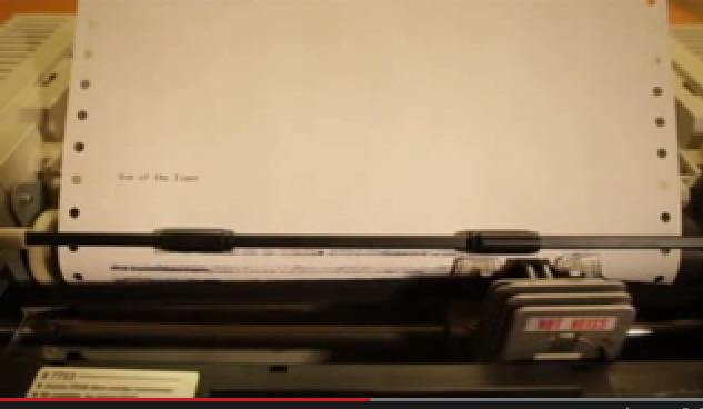 Eye of the Tiger Played on a Dot Matrix Printer