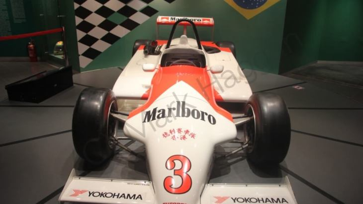 Ayrton Senna's winning car from the 1983 Macau Grand Prix